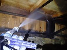 山口市天花の白蟻予防工事です。