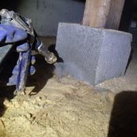 山口市嘉川にて白蟻予防工事。のサムネイル