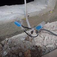 山口市天花にて騒音がしだした古い床下換気扇の取り換え工事。のサムネイル