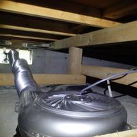 山口市下小鯖にて床下換気扇の取り換え工事。のサムネイル