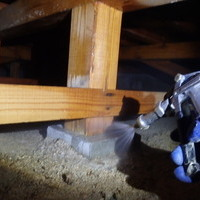 防府市多々良にて白蟻予防工事。定期的にご利用いただいております。のサムネイル