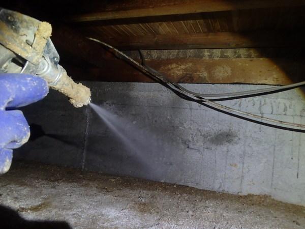 防府市富海にて新築時より30年以上施工させていただいているお客様宅の予防工事。のサムネイル