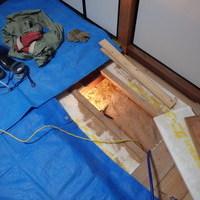 柳井市新庄にて中古住宅の白蟻予防工事。のサムネイル
