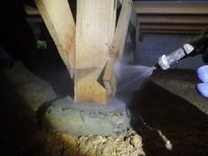 山口市阿知須にて白蟻予防工事。20年以上お付き合いのあるお客様。
