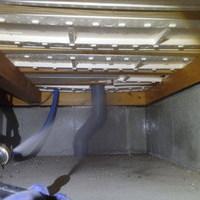 防府市江泊にて白蟻予防工事。新築より初めての予防工事。のサムネイル