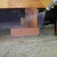 防府市台道にて白蟻予防工事。のサムネイル