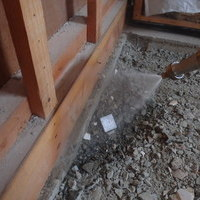 下関市綾羅木本町のリフォーム現場にて白蟻予防。リフォーム中にしかできない処置を。のサムネイル