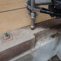 防府市敷山町にて白蟻予防工事。倉庫にはヤマトシロアリの被害が。のサムネイル
