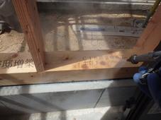 下関市豊浦町にて白蟻予防工事。増築部もしっかり予防。