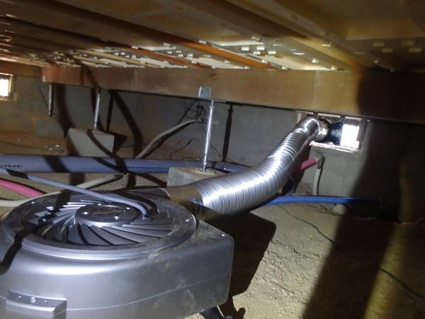 宇部市草江にて床下換気扇の交換工事。リフォームをきっかけに新品に。のサムネイル