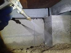 防府市新田にて白蟻予防工事。お客様よりリピートご契約。