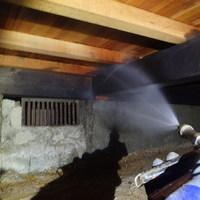 防府市牟礼にて白蟻予防工事。以前担当されていた業者さまからの引継ぎ。のサムネイル