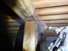 防府市中山にて白蟻予防工事。30年以上弊社で施工してくださっているお客様宅。