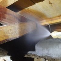防府市下右田にて、中古住宅リフォームにあわせて白蟻防除工事。のサムネイル