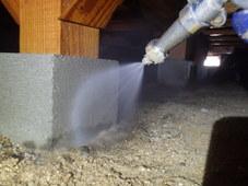防府市新田にて白蟻予防工事。以前からリピートいただいているお客様宅です。