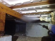 防府市新田にて白蟻予防工事。以前ご利用されていた他社様から弊社へ変更されてのお取引き。