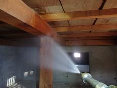 防府市松原町にて白蟻予防工事。保証終了のタイミングで再予防。