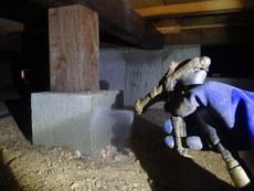 防府市台道にて白蟻予防工事。イエシロアリ駆除工事から5年。