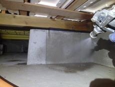 山口市佐山にて白蟻予防工事。佐山ハビテーション、定期的な予防工事。