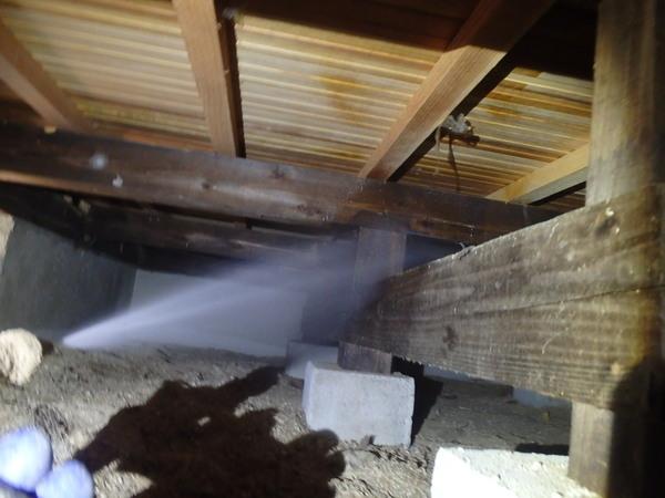 防府市牟礼にて白蟻予防工事。新規のお取引きです。のサムネイル