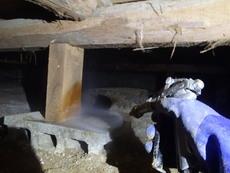 防府市南松崎町にて借家の白蟻防除。白蟻かなと思ったら案外別の原因でした。