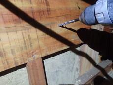 防府市台道にてイエシロアリ駆除工事。被害はみえないところに。