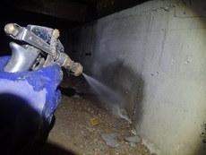 防府市大崎にて白蟻予防工事。30年以上前からのお客様宅。