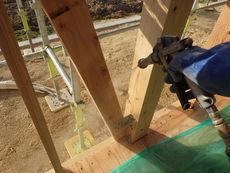 山口市佐山にて、新築予防工事。
