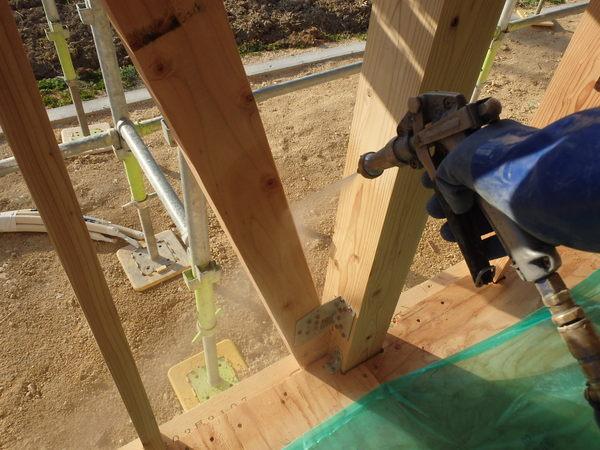 山口市佐山にて、新築予防工事。のサムネイル