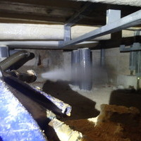 防府市江泊にて白蟻予防工事。のサムネイル