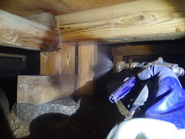 防府市多々良にて、定期的に予防工事をさせていただいているお客様宅。のサムネイル
