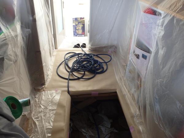 防府市自由ヶ丘にてイエシロアリ駆除工事。適切な処置がなされていないと更にひどい状態に・・・。のサムネイル