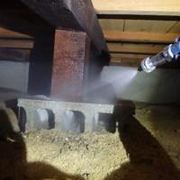 防府市牟礼にて白蟻予防工事。10年前より定期的に予防させていただいております。のサムネイル