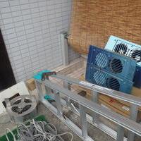 宇部市東岐波にて床下換気扇取替工事。湿気対策をして住宅長持ち。のサムネイル