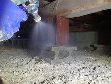 山口市佐山にて、白蟻予防工事リピートご契約。あなたが来るのを待っていたと言われ大変感激。