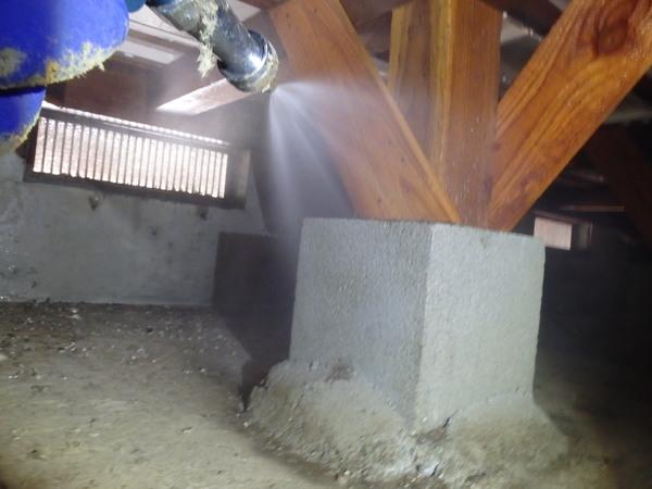 防府市岩畠にて白蟻予防工事。ホームページよりお問い合わせいただきご成約となりました。のサムネイル