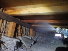防府市栄町にて白蟻予防工事。県外にお住まいの方のご実家の施工です。