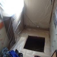 防府市鈴屋にて白蟻予防工事。約10年前の塗装時に予防をされ、それ以来だそうです。のサムネイル