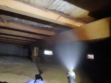 山口市阿知須にて、定期的に白蟻予防工事。