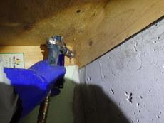 防府市多々良にて、新築から初めての白蟻予防工事。お客様からのご紹介でのご縁です。
