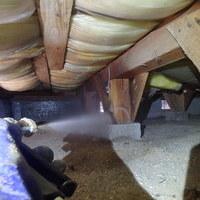 山口市大内御堀にてリフォーム時に白蟻予防工事。菅内団地内になります。のサムネイル