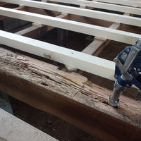 防府市栄町にてリフォーム中の借家の白蟻駆除工事。のサムネイル