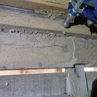 光市浅江にてヤマトシロアリ駆除工事。倉庫に被害が拡がっていました。のサムネイル