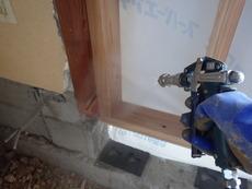 萩市椿東にて改築中の住宅の白蟻予防工事。