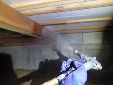 防府市台道にて白蟻予防工事。定期的にご利用くださりありがとうございます。