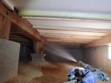 山口市佐山にて30年以上定期的に予防をされているお客様宅の工事。
