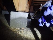 防府市南松崎町にて、定期的に白蟻予防工事。新築時より39年ずっと。