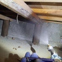 防府市今市町にて白蟻駆除工事。大工さんが発見され大事に至らず済みました。のサムネイル
