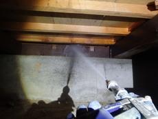 防府市桑南にて、大切なご実家の白蟻予防工事。